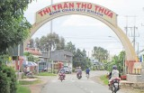 Thị trấn Thủ Thừa quyết tâm đạt đô thị loại 4 vào năm 2020