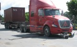 Xe container tông xe máy, một phụ nữ tử vong