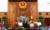 Thủ tướng gặp mặt chúc mừng Hoàng Xuân Vinh