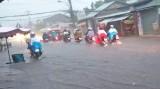 TP.Tân An bị ngập vì hệ thống thoát nước không đồng bộ