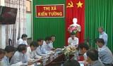 Khảo sát tiến độ thi công bệnh viện 500 giường tại thị xã Kiến Tường