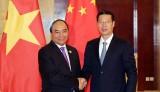 Thủ tướng Nguyễn Xuân Phúc hội kiến Phó Thủ tướng Trung Quốc