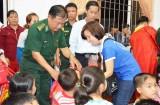 Bộ đội Biên phòng Long An tổ chức trung thu cho trẻ em biên giới