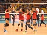 Đội tuyển bóng chuyền nữ Việt Nam nhọc nhằn đánh bại Hàn Quốc
