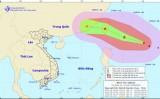 Bão MEGI gây gió mạnh dần trên vùng biển phía Đông Bắc Biển Đông
