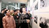Khai mạc triển lãm ảnh Đường Hồ Chí Minh huyền thoại trên đất Lào