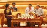 Chủ tịch QH Nguyễn Thị Kim Ngân hội kiến Chủ tịch QH Myanmar