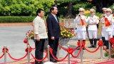 Chủ tịch nước Trần Đại Quang chủ trì lễ đón Tổng thống Philippines