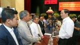 Chủ tịch nước gặp gỡ doanh nghiệp, doanh nhân TP. Hồ Chí Minh
