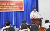 Đảng ủy khối Các cơ quan tỉnh tiếp tục nâng cao chất lượng cán bộ, đảng viên