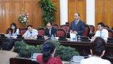 Thủ tướng làm việc với Hiệp hội Doanh nghiệp nhỏ và vừa Việt Nam
