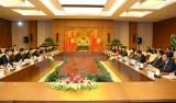 Chủ tịch Quốc hội hội đàm với Ủy viên trưởng Nhân đại Trung Quốc