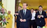 Phó Thủ tướng Trương Hòa Bình viếng cố Hòa thượng Thích Chơn Thiện