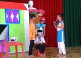 Tân Thạnh: Sôi nổi Hội thi tìm hiểu về an toàn giao thông cấp tiểu học