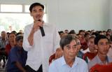 Bí thư Huyện ủy Thủ Thừa đối thoại với nhân dân về phát triển đàn bò thịt