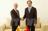 Chủ tịch nước Trần Đại Quang tiếp xúc song phương ở Madagascar