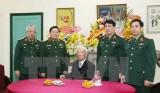 Đoàn Quân ủy Trung ương đến mừng thọ Đại tướng Lê Đức Anh