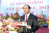 Chủ tịch nước Trần Đại Quang dự khai giảng Học viện Tòa án