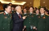 Tổng Bí thư Nguyễn Phú Trọng gặp mặt đại biểu phụ nữ Quân đội