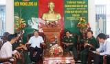 Phó Ban chỉ đạo Tây Nam bộ đến thăm Bộ Chỉ huy Bộ đội Biên phòng và Bộ Chỉ huy Quân sự tỉnh Long An