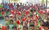 Trường Mầm non An Nông tổ chức vui Giáng sinh cho thiếu nhi