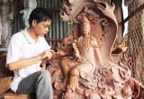 Điêu khắc gỗ - Sự thăng hoa từ đôi bàn tay