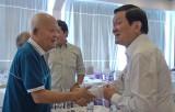 Nguyên Chủ tịch nước Trương Tấn Sang dự họp mặt đồng hương Đức Hòa tại TP.HCM