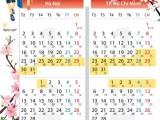 Lịch nghỉ Tết Nguyên đán 2017 của học sinh cả nước