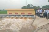 Vận hành thông nước trạm bơm Lộc Giang