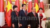 Thủ tướng Nguyễn Xuân Phúc và ông Abe có cuộc hội đàm chính thức