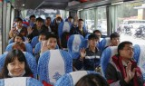 Gần 1.500 sinh viên lên những chuyến xe miễn phí về quê ăn Tết