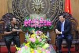 Quân cảnh Hoàng gia Campuchia chúc tết tỉnh Long An