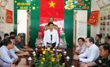Chủ tịch UBND tỉnh – Trần Văn Cần chúc tết Bộ đội Biên phòng và các đơn vị đóng trên địa bàn huyện Vĩnh Hưng