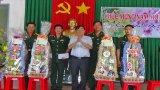 Phó Bí thư Thường trực Tỉnh ủy Đỗ Hữu Lâm thăm, chúc Tết lực lượng vũ trang tuyến biên giới Kiến Tường và Vĩnh Hưng