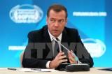 Thủ tướng Nga Medvedev được bầu lại làm lãnh đạo đảng cầm quyền