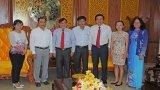 Báo Long An chúc tết Tỉnh ủy, UBND tỉnh nhân dịp Tết Nguyên đán Đinh Dậu