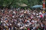 Ngày đầu năm, hơn một vạn người đến dâng hương tại Đền Hùng