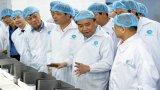 Thủ tướng thăm doanh nghiệp đứng đầu về xuất khẩu tôm