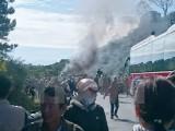 Lâm Đồng: Xe khách 50 chỗ bốc cháy, hành khách hoảng loạn