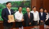Lãnh đạo tỉnh Long An làm việc với Trưởng đại diện Văn phòng JETRO tại TP.HCM và  lãnh đạo Công ty Hiraiwa