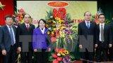 Chủ tịch Mặt trận Tổ quốc Việt Nam thăm, chúc mừng Bộ Y tế