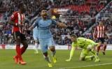 "Aguero ""nổ súng"", M.C thắng dễ Sunderland"