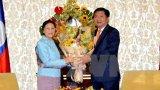 Chủ tịch Quốc hội Lào thăm, làm việc tại Thành phố Hồ Chí Minh