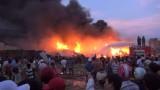 Cháy lớn trong nhà xưởng sản xuất nhựa tái chế