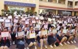 100 học sinh Trường THCS Nhựt Tảo tham dự cuộc thi Rung chuông vàng