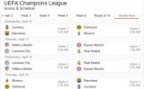 Lịch thi đấu vòng tứ kết Champions League 2016/2017