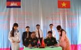 Sơ kết hợp tác giữa Ban Chỉ huy quân sự Thạnh Hóa, Đức Huệ với Chi khu Quân sự ChanhTria