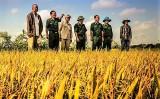 Bộ Chỉ huy Bộ đội Biên phòng Long An thăm, chúc Tết cổ truyền Campuchia