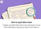 Facebook ra tính năng mới tố cáo tin tức giả trên mạng xã hội
