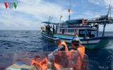 Tàu Cảnh sát biển 8004 tuần tra, kiểm soát khu vực Trường Sa và DK1